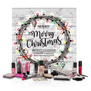 Advent Calendar Merry Christmas Lights 24 Surprise Make-Up Gifts - Mad Beauty